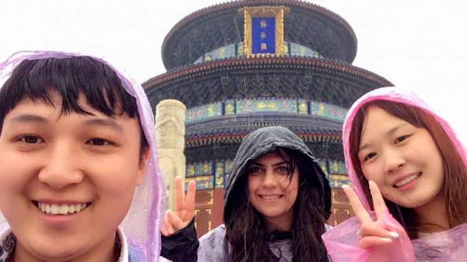 Honeymoon couple in Beijing