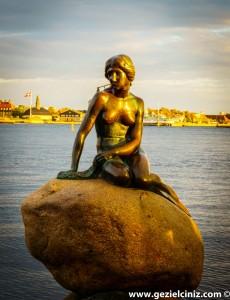 Kopenhag deniz kızı portre