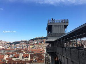 Lizbon gezi rehberi santa justa manzara