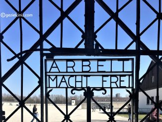 Dachau Concentration Camp Arbeit Mach Frei close up